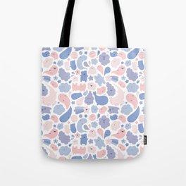 Colors Of The Year Doodle - Rose Quartz & Serenity - Pantone Tote Bag