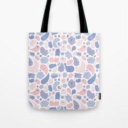 Colors Of The Year Doodle - Rose Quartz & Serenity - Pantone Tote Bag