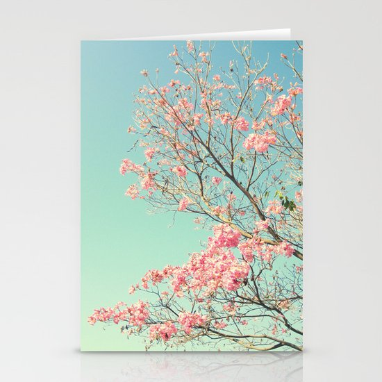 Spring Kissing the Sky Stationery Cards