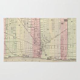 Vintage Map of Detroit Michigan (1886) Rug