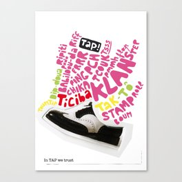In tap we trust Canvas Print