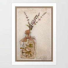 Garden Note  Art Print