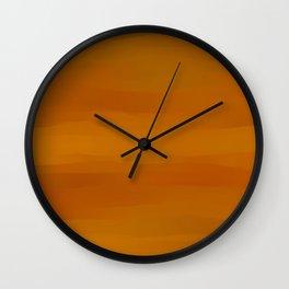 Warm Butterscotch Pecan Pie Wall Clock
