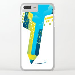 Draw The Future Clear iPhone Case