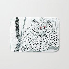 Leopard heart Bath Mat