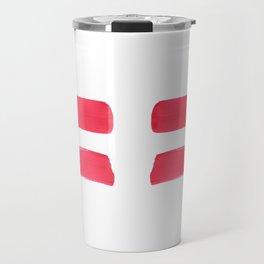 One human kind - Pink Equality Travel Mug