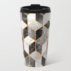 Black & White Cubes Travel Mug