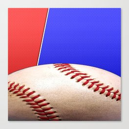 Baseball Sports on Blue and Red Canvas Print