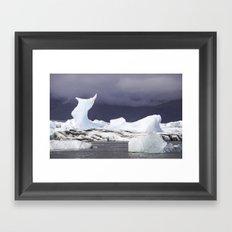 Glacier Lagoon Iceland Framed Art Print