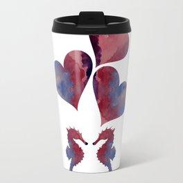Seahorse Art Travel Mug