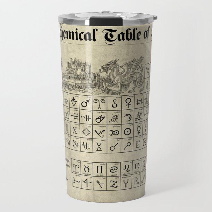 The Alchemical Table of Symbols Travel Mug