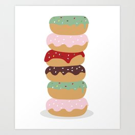 Mountain of Donuts in my Dream Art Print