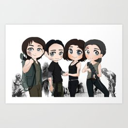 cute studio ghibli inspired artwork from a popular tv show.(zombies) Art Print