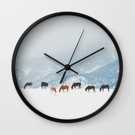 Winter Pastures Wall Clock