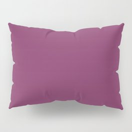 Dark Violet - Jam - Mulberry - Boysenberry Solid Color Parable to Pantone Glistening Grape 20-0113 Pillow Sham