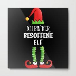 Besoffene Elf Partnerlook Weihnachten Metal Print