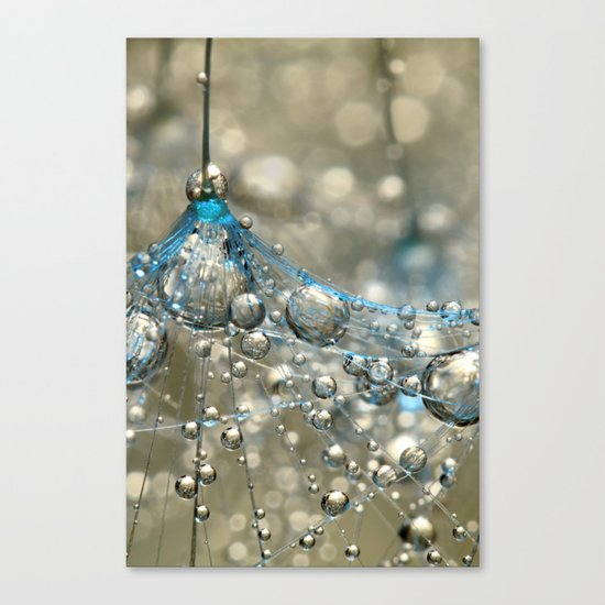 Cyan & Gold Canvas Print