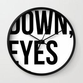 Heels Down, Eyes Up Wall Clock