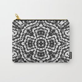 Black and white geometric pattern . The Maltese cross . Carry-All Pouch