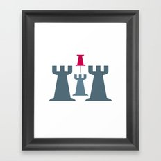 Your Middle Tower is under attack! Framed Art Print