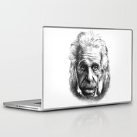 einstein Laptop & iPad Skins featuring Einstein by Jaume Tenes
