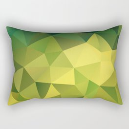 Abstract of triangles polygon in green yellow lime colors Rectangular Pillow