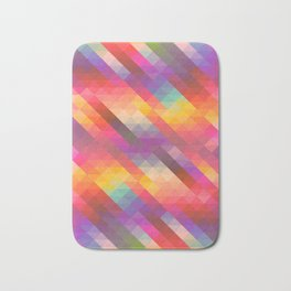 Abstract Colorful Decorative Squares Pattern Bath Mat