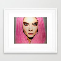 cara Framed Art Prints featuring CARA by Zayn Al-Qahtani