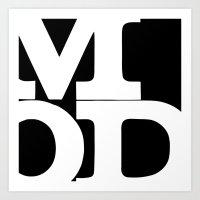 mod Art Prints featuring mod by bobbybard