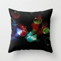 the lights Throw Pillows featuring Lights by Digital-Art