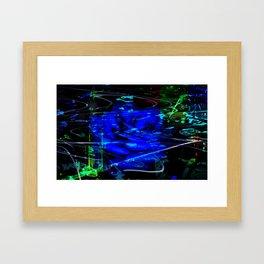 Blue Rose Mist Framed Art Print