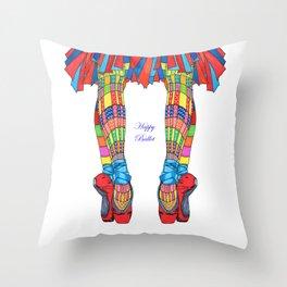 Happy Ballet 5 Throw Pillow