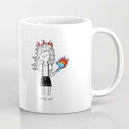 On Fire by Sarah Pinc Coffee Mug