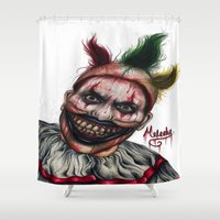 ahs Shower Curtains featuring Twisty-AHS No.2 by MELCHOMM