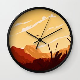 West Texas Landscape Wall Clock