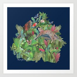 Into the Wild Midnight Forest Art Print