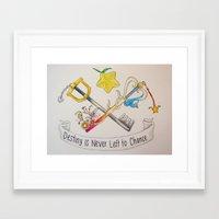 kingdom hearts Framed Art Prints featuring Kingdom Hearts by daintytea