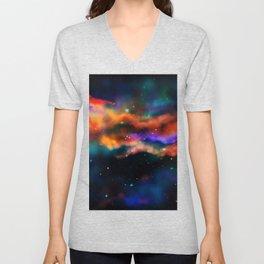 Galactic Nebula (Dark Version) Unisex V-Neck