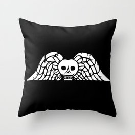Winged Death Throw Pillow