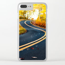 road in autumn Clear iPhone Case