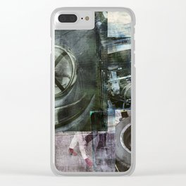 SRC Preparations Wall Art 911 Race One Clear iPhone Case
