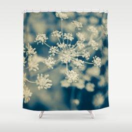 Indigo Dill Botanical Study Shower Curtain