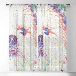 Shih tzu Rainbow Art Sheer Curtain
