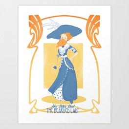 circus series -the bearded lady- Art Print