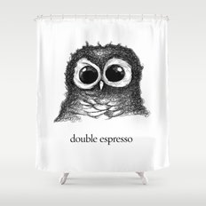 double espresso Shower Curtain