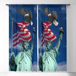 Bald Eagle a Lady Liberty Blackout Curtain