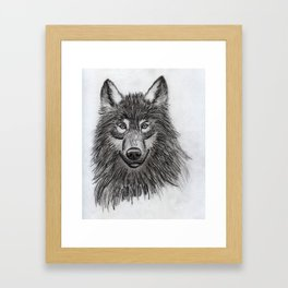 Wolf // #ScannedSeries Framed Art Print