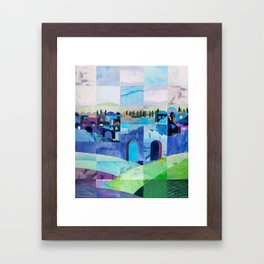 Jerusalem in Blue Framed Art Print