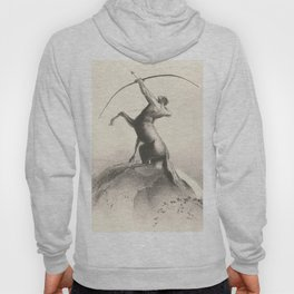 "Odilon Redon ""Centaur focuses on the sky"" Hoody"