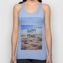 Happy Place Beach Unisex Tanktop